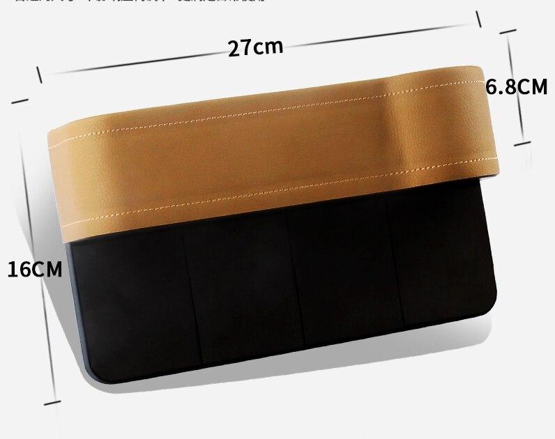 Car Interiro Accessories Seat Gap Pocket Leak-Proof Storage Bags Store Box For Tesla Model S Model X Model 3 2016 2017