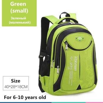 2020 hot new children school bags for teenagers boys girls big capacity school backpack waterproof satchel kids book bag mochila - Small Green