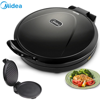 Midea Electric Baking Pan Cake Round Double sided Heating Scones Tortilla Maker 110v Pan BBQ Waffle Iron Crispy Egg Roll Machine