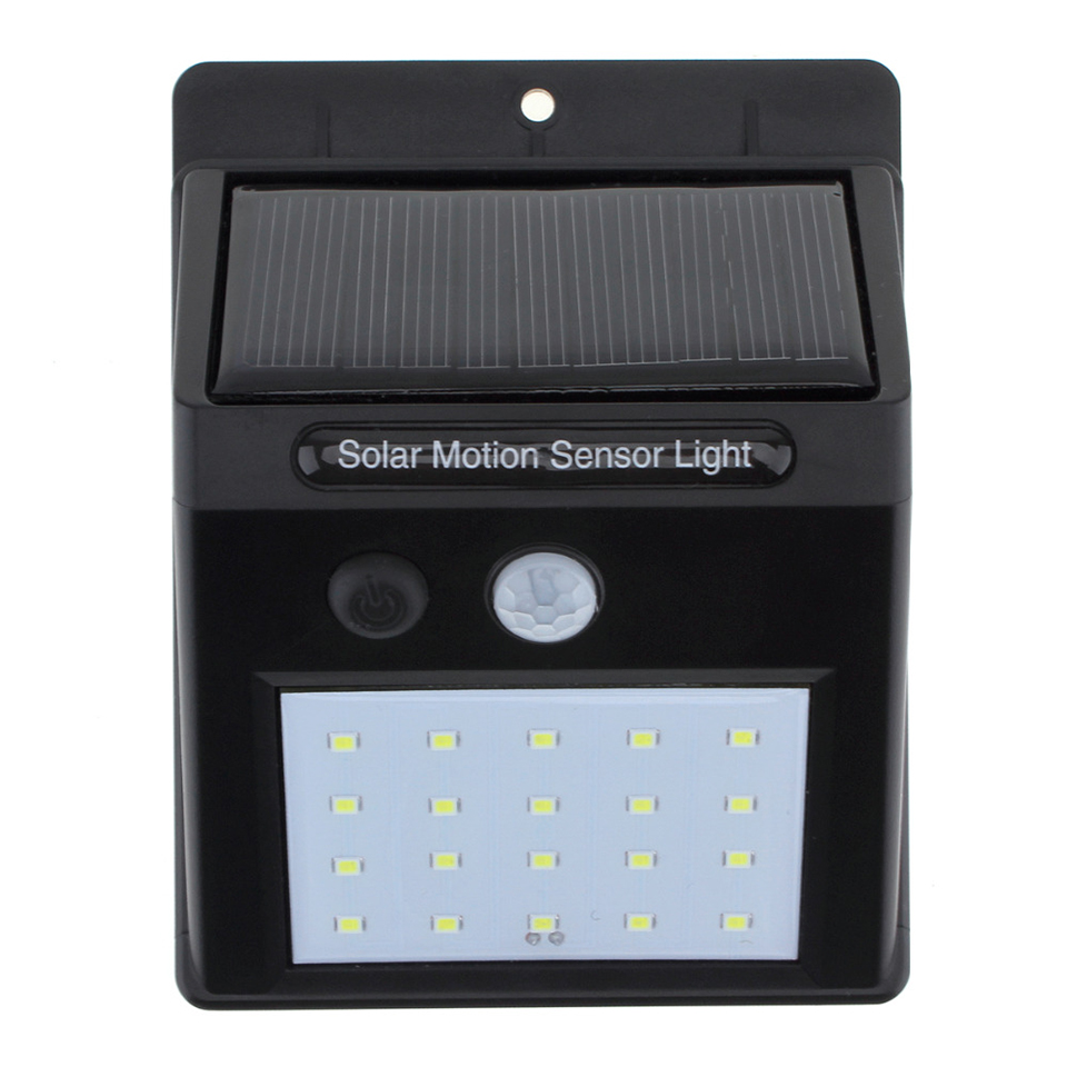 20 светодиодный открытый Солнечный Сенсор светодиодный настенный светильник, движения PIR Сенсор дальность обнаружения с заката до рассвета ...