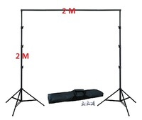 Photo Studio Background Stand Kit 2Meter Height 2Meter Width 4PCS Clamps 1pc carrying bag Backdrop Stand kit