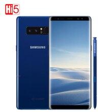Открыл Samsung Galaxy Note 8 N950F/N9500 6 г Оперативная память 64 г Встроенная память двойной задней камерами 12MP 3300 мАч оригинальный мобильный смартфон Восьмиядерный