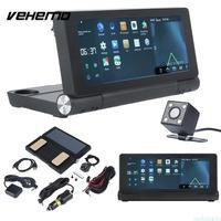 Vehemo Global Map 140 Degree 3G GPS Navigator Touch Screen Car DVR Record HD Video FM Radio Android 5.0