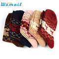 Newly Design Christmas Deer Moose Design Casual Warm Winter Knit Wool Socks For Mens Women  June29 Drop Shipping Womail