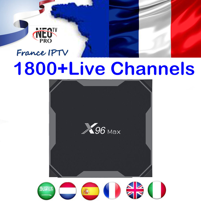 4K HD French IPTV TV Box Android 9 0 X96 MAX X2 S905X2 With NEOTV PRO