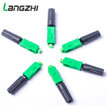 100pcs/lot SC APC 50mm ZF FTTH Fiber optic SC connector SC/APC Optical fiber connector SC-APC fast connector Langzhi(China)