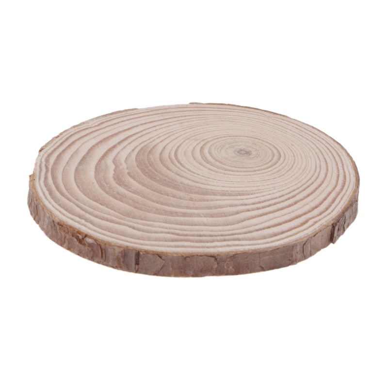 Natural Wood Slices Plate Round Wooden Chips Disc For DIY Craft Ornament Diy Wood