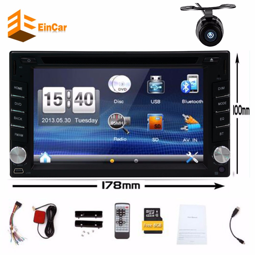 Car cd DVD audio auto Radio universal Double 2 din free GPS map Navigation In dash Car PC vehicle+Free two 2din gps Map camera аквариум аквариум электрошок 2 cd dvd