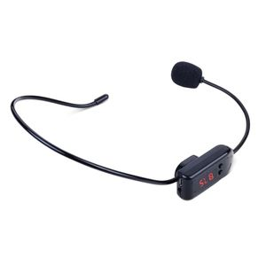Image 5 - Black Portable FM Wireless Microphone Headset Radio Megaphone For Tour Guide Teaching Meeting Lectures Supplies
