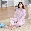 5 Pçs/lote Inverno Marca Linda Mulheres Pijama Vestes Quentes Senhoras Primavera Manga Comprida Plus Size Roupão de banho Feminino frete grátis