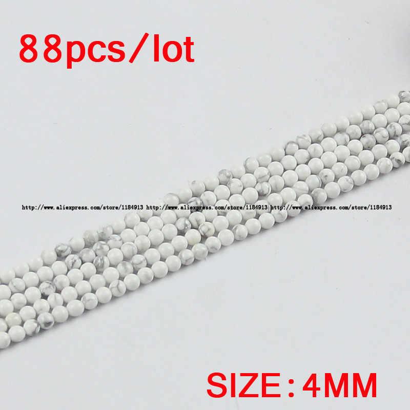 JHNBY Howliet wit grenen Losse kralen Natuursteen Ronde bal 4/6/8/10/12MM sieraden armband ketting Maken DIY accessoires