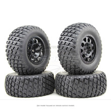 4 PCS/Set RC 1:10 Short Course Truck Tires Set Tyre Wheel Rim For TRAXXAS SlASH HPI Remote Control Toy Car Model Toy Parts G