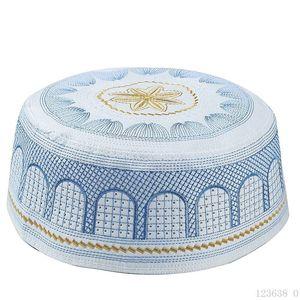 Image 4 - 2019 Muslim Men Prayer Hats WhiteTurkish Arabic Knitted Hat Islamic Caps Headscarf Clothing Arab Crochet Islamic Fashion Saudi