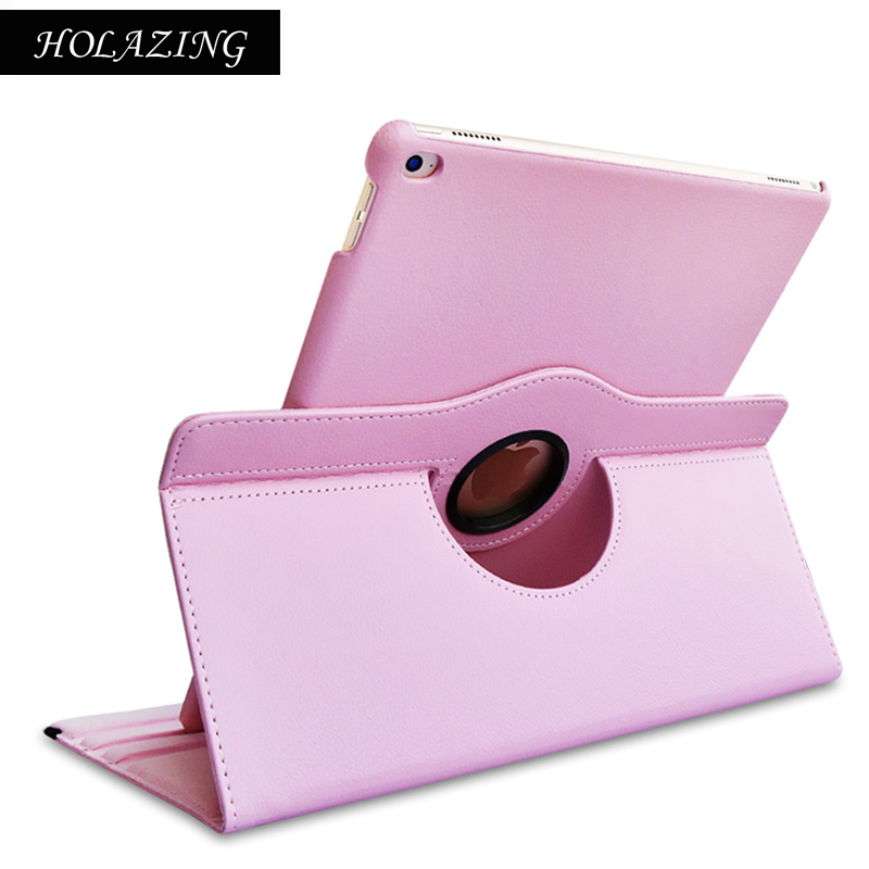 360 Degree Rotation Case For iPad Air 2 PU Leather Stand Cover For iPad Air2 With Smart Auto On/Off Funda Coque for apple ipad air 2 pu leather case luxury silk pattern stand smart cover