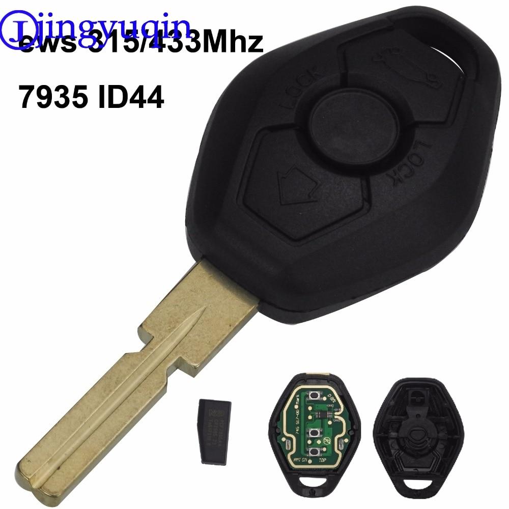 Jingyuqin Hu58 4 Tasten Remote Key Fall Für BMW E38 E39 E46 EWS System FRAGEN 433 mhz 315 mhz Mit PCF7935AA ID44 Chip Uncut Klinge