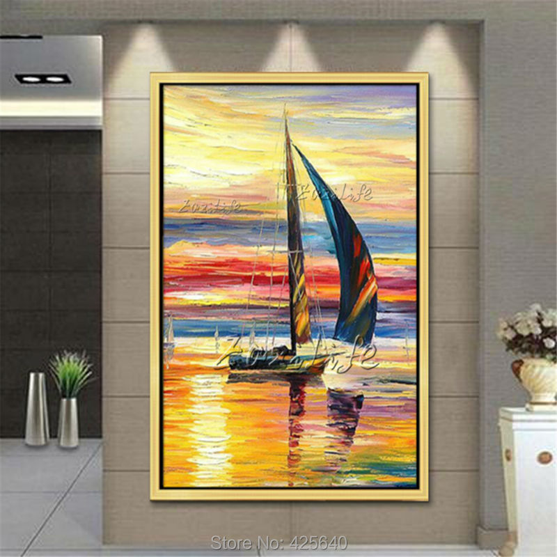 Funky Drifting Boats Wall Decor Image - Wall Art Design ...
