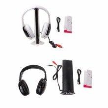 New Stylish 5 in 1 Hi-Fi Wireless Headset Headphone Earphone for TV DVD MP3 PC hot smarcent new multifunction 5 in 1 fm wireless headset earphone for mp4 pc tv cd mp3 black with fm raido headphone headphones