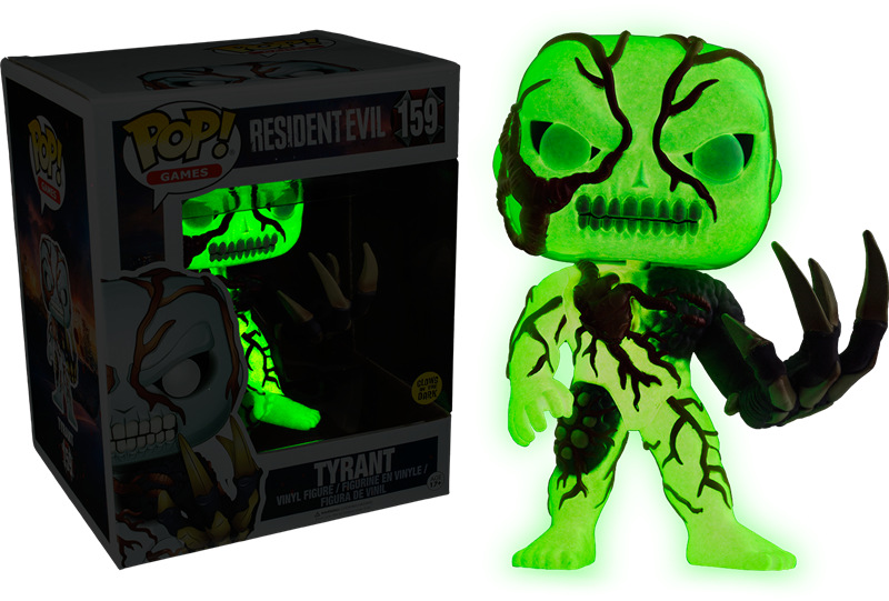 Exclusive Glow in the dark 6'' Original Funko pop Resident - Tyrant Official Vinyl Action Figure Collectible Model Toy In Stock collectible 1 6 jill valentine action figure resident evil model toys feamle full set figures in stock