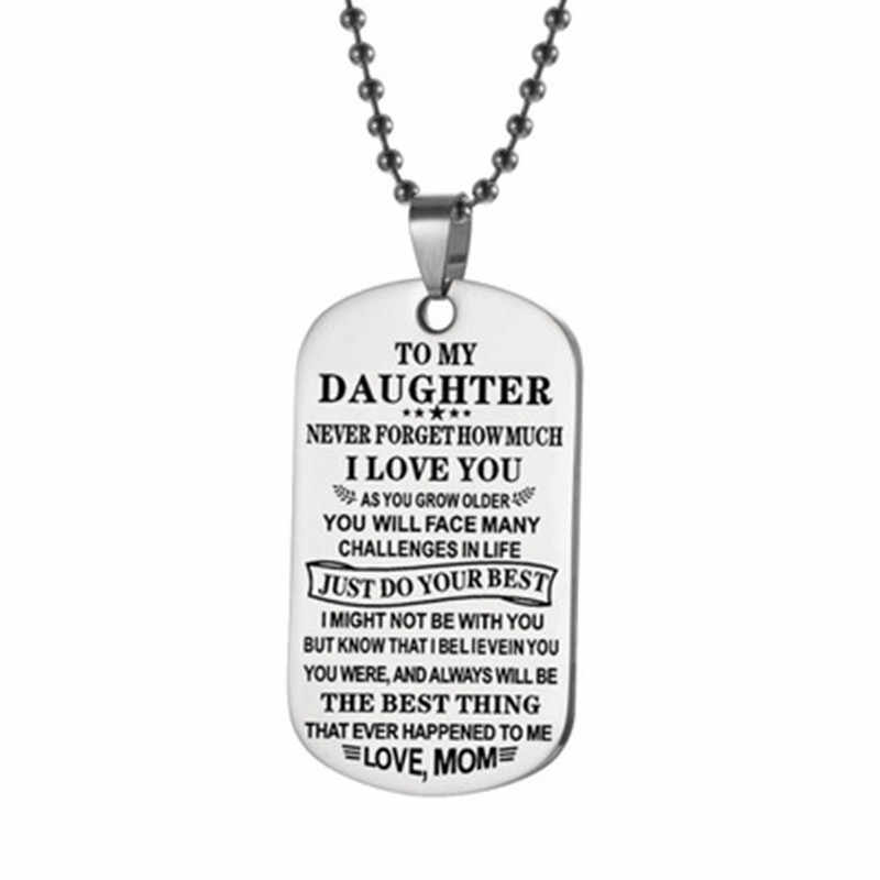 new fashion Stainless steel jewelry TO MY SON Pendant necklace party gift for women and men chain fashion couple pendants chain