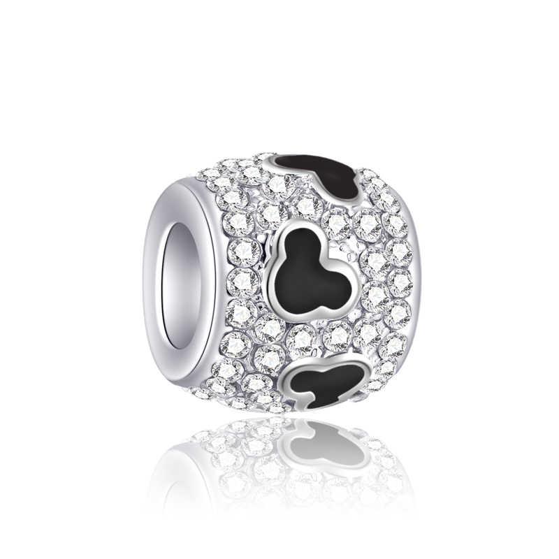 Alta Qualidade Murano Elefante Bola Estrelas Flores Corações Encantos De Cristal Beads Fit Pandora Pulseiras DIY Trinket para As Mulheres Perles