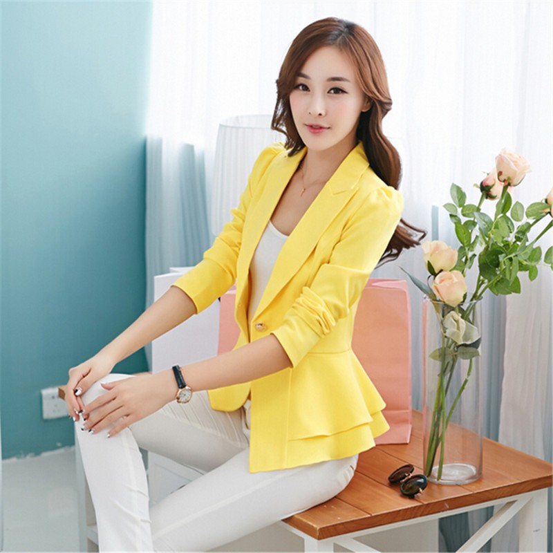 8f982c3f0fe Blazer Feminino Women Nice New Female Suit Jacket Ladies Casual ...