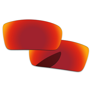 Image 2 - Fire Red Spiegel Gepolariseerde Vervanging Lenzen Voor Gascan Kleine Niet voor Gascan Zonnebril Frame 100% UVA en UVB Bescherming