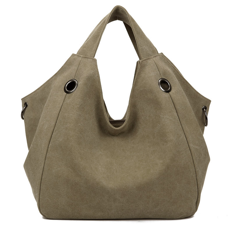 8ae3d2eda3f High Quality Canvas Women Handbag Casual Large Capacity Hobos Bag Hot Sell  Female Totes Bolsas Trapeze Ruched Solid Shoulder Bag-in Top-Handle Bags ...