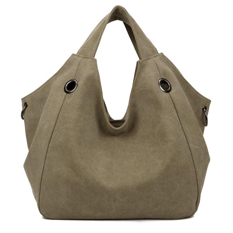 ... Canvas Women Handbag Casual Large Capacity Hobos Bag Hot Sell Female  Totes Bolsas Trapeze Ruched Solid Shoulder Bag. Click to enlarge 37e10e7158204