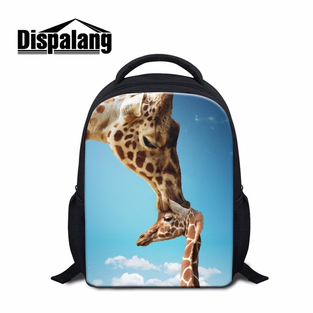 Cute Kindergarten Backpacks For Little Girls Fashion Book Bags Kids Small Back Pack Animal Giraffes Patterns