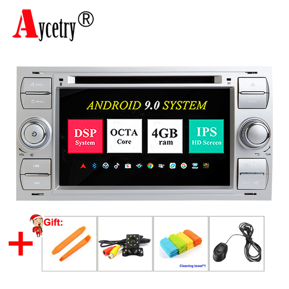 DSP IPS 2 din Android 9 Car dvd Player GPS audio Multimedia For Ford/Mondeo/Focus/Transit/C-MAX/S-MAX/Fiesta auto radio FM obd2