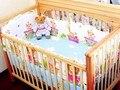 Promoção! 6 PCS berço jogo de cama bebê berço cama definir 100% algodão frete grátis ( bumpers folha + travesseiro )