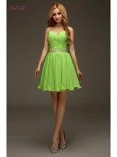 a4a7fc837bb0d Yeşil 2019 Parti Mezuniyet Elbiseleri A-Line Sevgiliye Kısa Mini Organze  Boncuklu Backless Zarif Kokteyl Elbiseleri