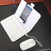 Flip cas smartphones accessoires filaire clavier souris cas ensembles Android mobile téléphone clavier stand pour huawei samsung xiaomi HTC