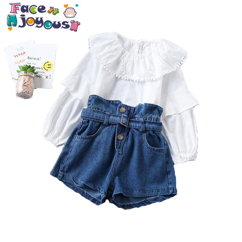 Cotton Girls Knit Dress Kids Lapel Sleeveless Vest Baby Sweet Dresses Childrens