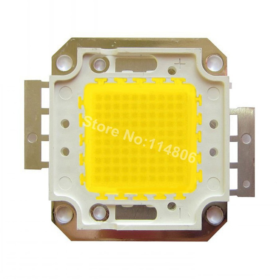 High Power 100W 32mil Chip White 6500K / Warm White 3500K Square Base SMD LED Light lamp Parts DC 32~34V 3000mA 1w led bulbs high power 1w led lamp pure white warm white 110 120lm 30mil taiwan genesis chip free shipping