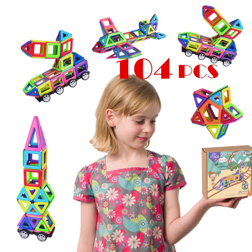 42/78/104 PCS Mini Magnetic Designer Construction Brick Building Blocks Toys Educational Kits Toy Gifts DIY Toy детское лего brand new oem e diy abs diy educational toy brick building blocks