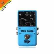 Nux guitarra pedal de efectos mod core multi modulación chorus flanger phaser rotary pan u-vibe y vibrato puente verdadero envío gratis