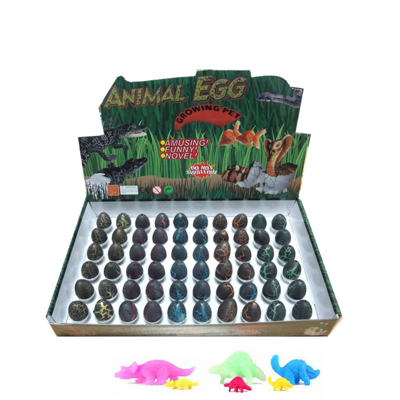 60pcs Hatchable Eggs Novelty Gag Toys Magic Water Hatching Inflation Growing Dinosaur Eggs Funny Toy  Surprise Easter