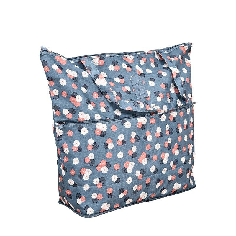 Large Shopping Bag Foldabel Women Portable Tote Bag Reusable Nylon Bags Shoulder Womens Zipper Totes Waterproof Big Grocery Bags