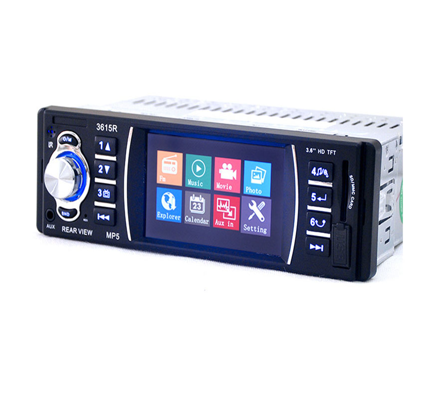 3615R 1 Din Car Radio 3.6 Car Video MP5 Player Auto Audio Stereo FM Station TFT Screen FM Transmitter Stereo Audio for Music image