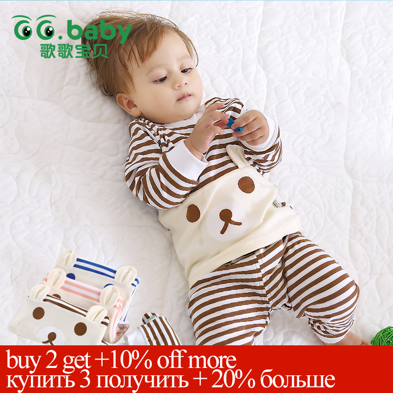 c94b5f48f Cotton Baby Boy Girl Clothing Pajamas Sets Autumn Winter Newborn ...