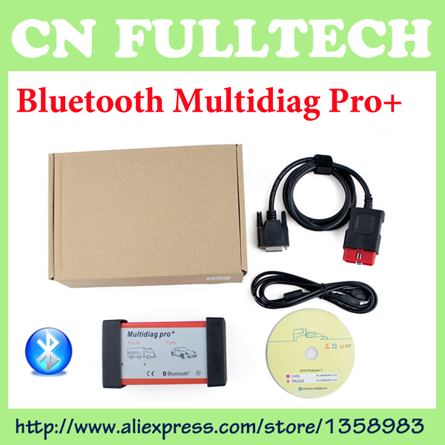 ФОТО 2016 New Design With 4G TF Card TCS CDP Pro Bluetooth Multidiag Pro+ For Cars/ Trucks + Carton box Free Shipping