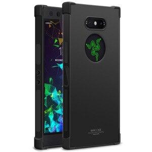 Image 1 - IMAK s Razer Phone2 케이스 커버 용 충격 방지 실리콘 소프트 투명 TPU 케이스, Razer Phone 2 용 스크린 보호기 포함