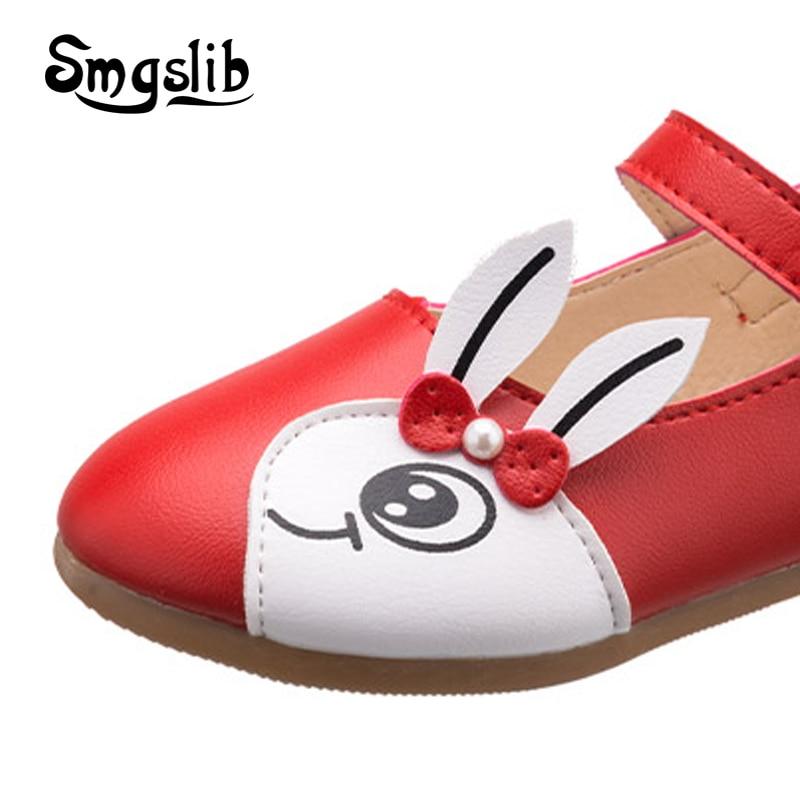 dziecięce dziewczęce buty wiosna Kreskówka królicze skórzane - Obuwie dziecięce - Zdjęcie 3