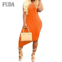 FUDA Women Casual Irregular Side Pocket Short Sleeve Dress Fashion O-neck Hollow Out Dress Summer High Quality Street Vestidos pocket side dress