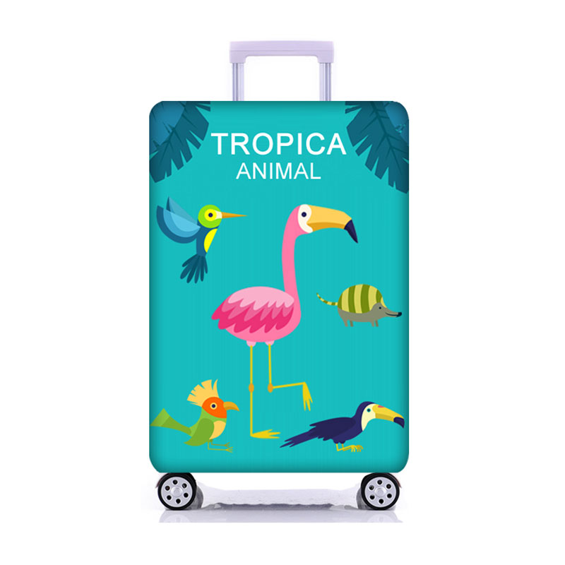 Travel Flamingo Suitcase Protective Cover Luggage Case Travel Accessories Elastic Luggage Dust Cover Apply to 18 39 39 32 39 39 Suitcase in Travel Accessories from Luggage amp Bags