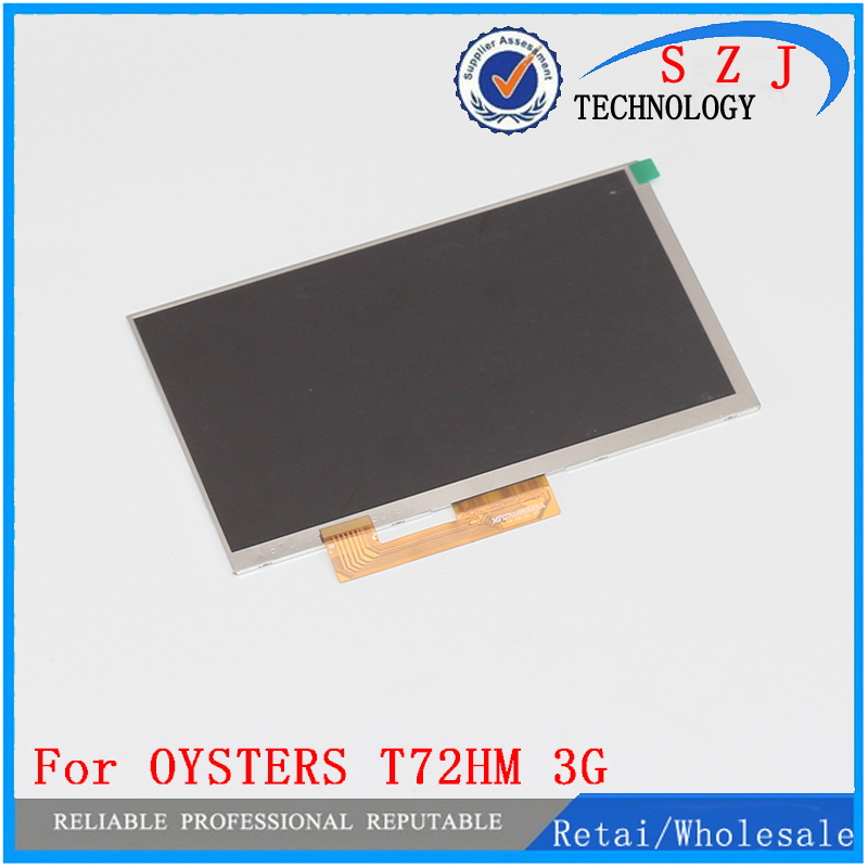 New 7'' Inch Replacement LCD Display Screen For OYSTERS T72HM 3G tablet PC Free shipping original 7 inch lcd display kr070lf7t for tablet pc display lcd screen 1024 600 40pin free shipping 165 100mm