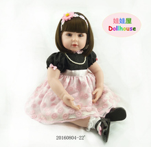 22Inch New Born Baby Dolls Bebe Reborn Menina Children Best Gift Silicone reborn  doll for Kids Handmade Princess Bonecas