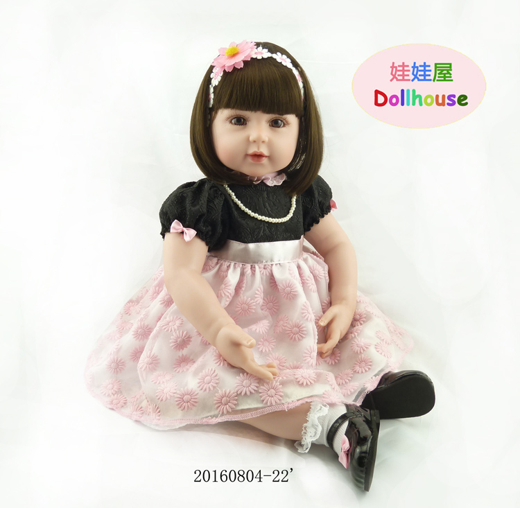 55 cm Vinyl Silicone Worship Adora Cute Cute Long-haired White Princess Dolls Doll Girl Gifts Reborn Baby Girl Silicone кукла adora baby doll 20 classic snow white