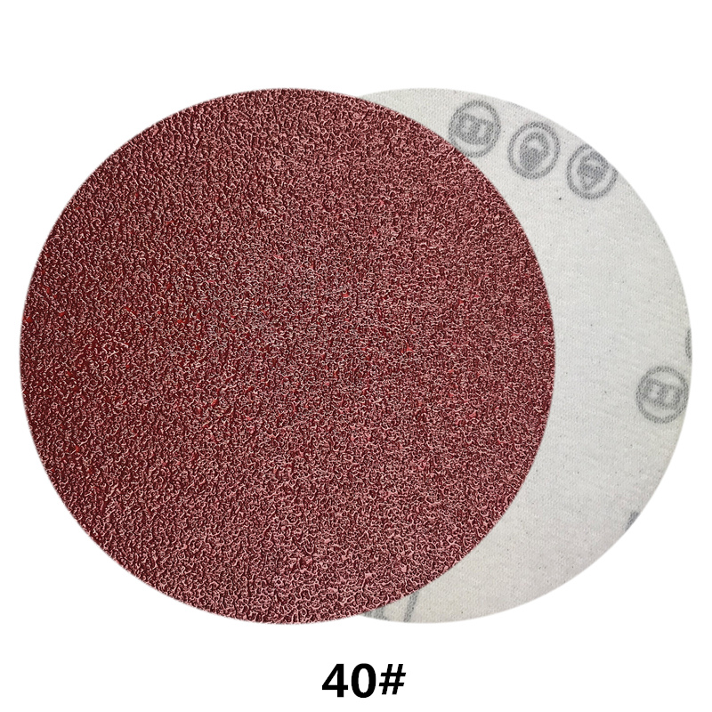 Image 3 - POLIWELL 10PCS 4 Inch 100mm Red Dry Sanding Discs Sandpaper Grit 40~2000 Flocking Back Sanding Paper Auto Furniture Polishing-in Abrasive Tools from Tools